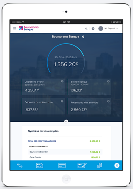 tablette boursorama banque