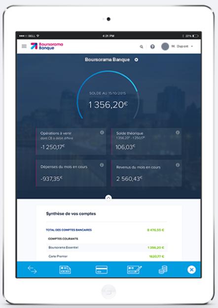 tablette boursorama banque