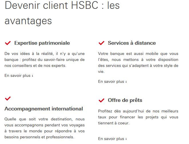 hsbc avantages